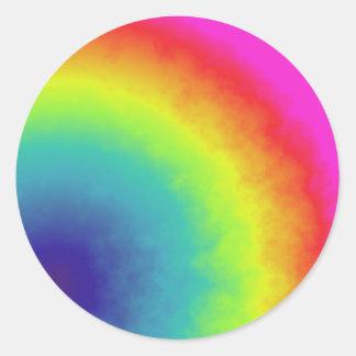 nube del arco iris pegatina redonda