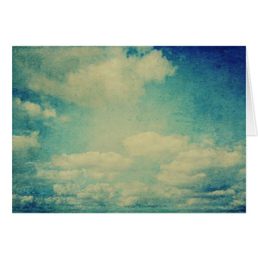 nube del azul del vintage felicitación