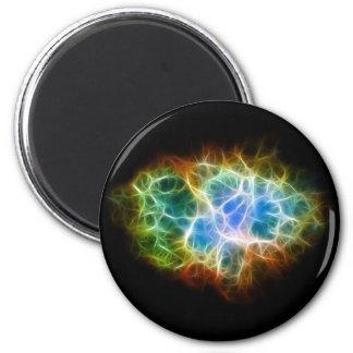 Nube del espacio de la estrella de la nebulosa de  imán redondo 5 cm