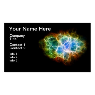 Nube del espacio de la estrella de la nebulosa de tarjetas de visita