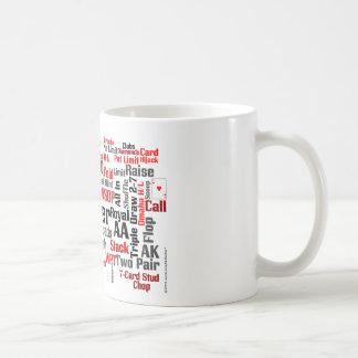 Nube del póker taza de café