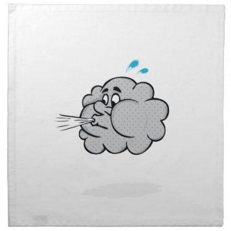 nube del soplo servilletas imprimidas