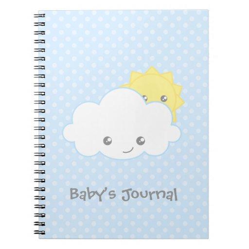 Nube dulce y Sun de Kawaii Cuaderno