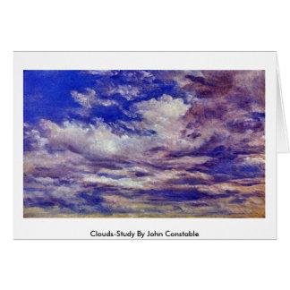 Nube-Estudio de John Constable Felicitacion