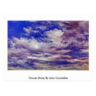 Nube-Estudio de John Constable Tarjetas Postales