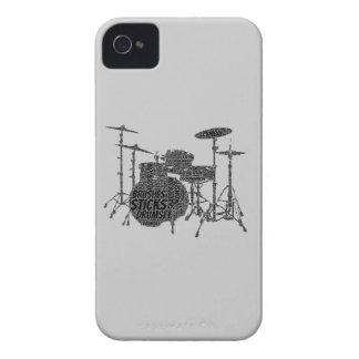 Nube formada sistema de la palabra del tambor Case-Mate iPhone 4 cárcasas