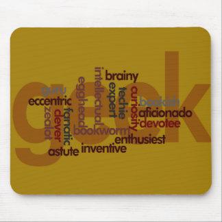 Nube Geeky divertida Mousepad de la palabra