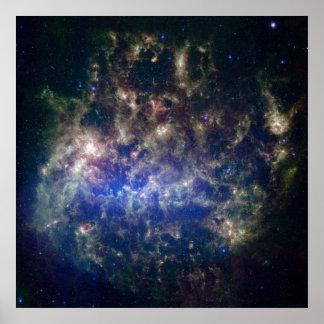 Nube grande 52x52 (44x44) de Megellanic Póster