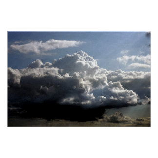 Nube grande de la acuarela impresiones