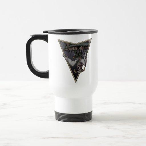 Nube gris tazas de café