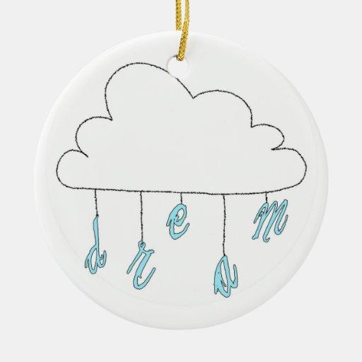 Nube ideal ornamento para arbol de navidad