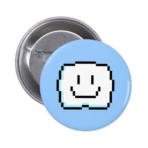 Nube linda del pixel pin redondo de 2 pulgadas