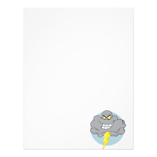 Nube negra del dibujo animado enojado con el membretes personalizados