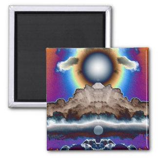 Nube nuclear imán cuadrado