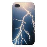 Nube para moler el relámpago iPhone 4/4S carcasas
