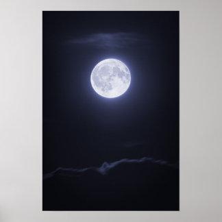Nube que cubre la Luna Llena Poster