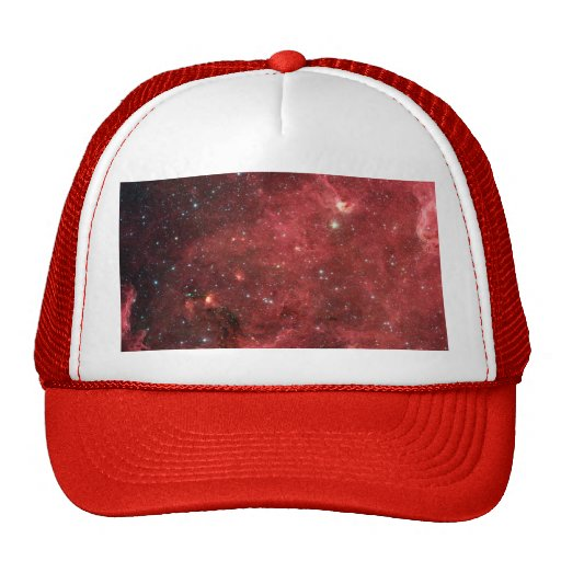 Nube roja gorras de camionero