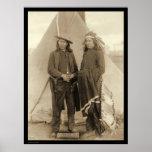 Nube roja y caballo americano SD 1891 de los jefes Impresiones