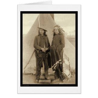 Nube roja y caballo americano SD 1891 de los jefes Tarjetas