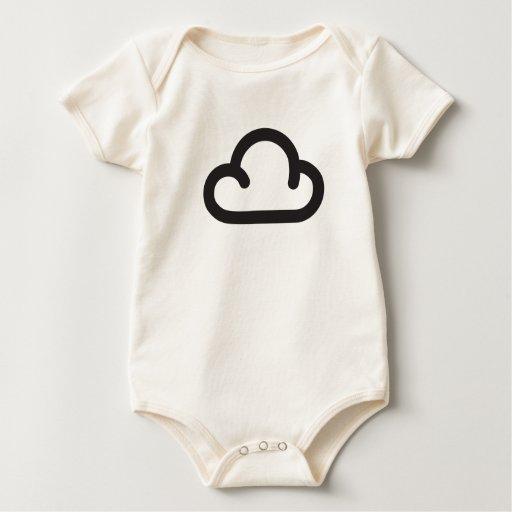 Nube: Símbolo retro de la previsión metereológica Mameluco