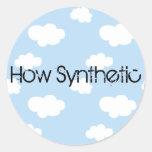 Nube sintética pegatinas redondas