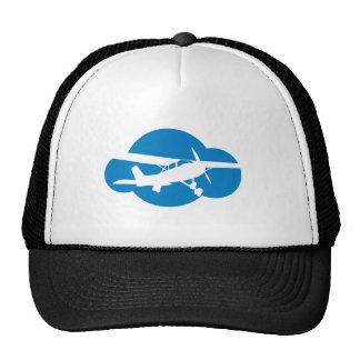 Nube y avión azules de la aviación gorros bordados