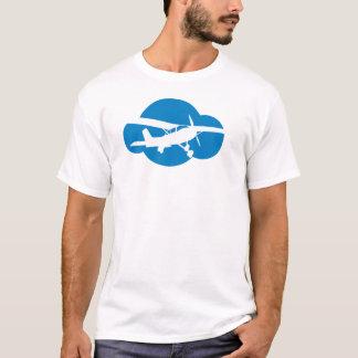 Nube y avión azules de la aviación playera