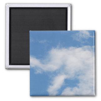 Nubes 01 (personalizable!) imán cuadrado