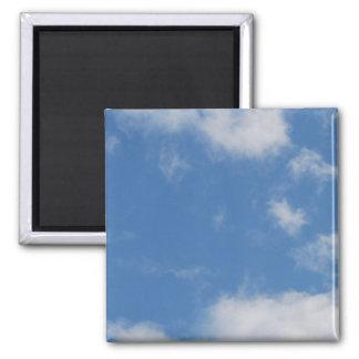 Nubes 02 (personalizable!) imán cuadrado