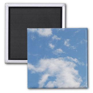 Nubes 03 (personalizable!) imán cuadrado
