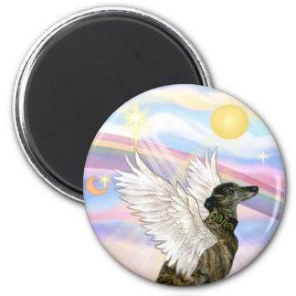 Nubes - ángel Brindle del galgo Imán Redondo 5 Cm