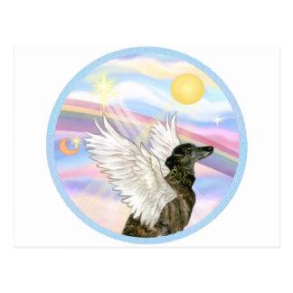 Nubes - ángel Brindle del galgo Postales