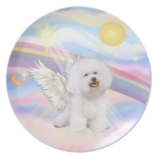 Nubes - ángel de Bichon Frise 1 Plato