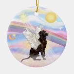 Nubes - ángel de Labrador (chocolate) Ornamentos De Navidad