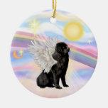 Nubes - ángel de Terranova (negro) Adornos