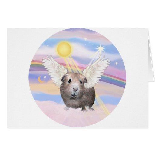 Nubes - ángel del conejillo de Indias (#2) Tarjeta De Felicitación