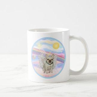 Nubes - ángel del dogo francés taza de café