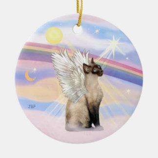 Nubes - ángel del gato siamés adorno