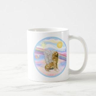 Nubes - ángel del golden retriever (B1) Taza De Café