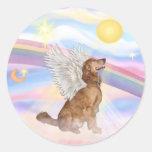 Nubes - ángel del golden retriever (perfil) etiquetas
