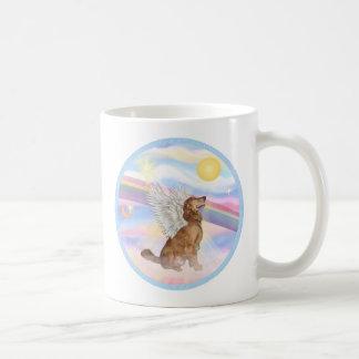 Nubes - ángel del golden retriever (perfil) taza de café