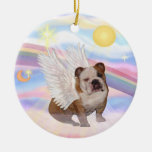 Nubes - ángel inglés del dogo ornamento para reyes magos