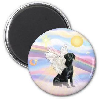 Nubes - ángel negro del labrador retriever imán para frigorífico