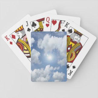 Nubes azules del cielo + sus ideas baraja de cartas