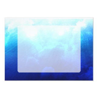 """Nubes azules vibrantes invitación 5"""" x 7"""""""