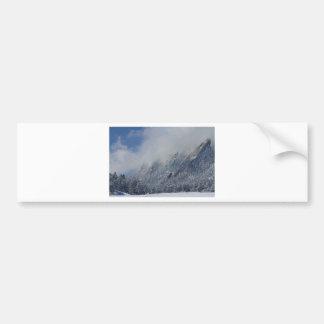 Nubes bajas sacadas el polvo Boulder Colorado de F Etiqueta De Parachoque