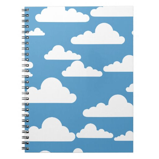 nubes blancas a través de un cielo azul libros de apuntes