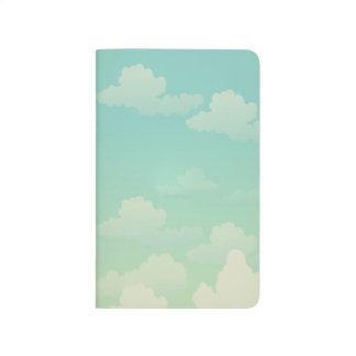 Nubes blancas mullidas cuaderno