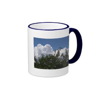 Nubes blancas mullidas del árbol de melocotón de taza de dos colores