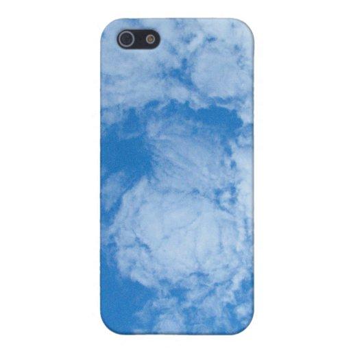 Nubes blancas mullidas iPhone 5 protectores